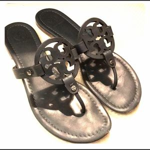 Tory Burch Shoes - Tory Burch SZ 8 Miller Leather Sandal in Gray